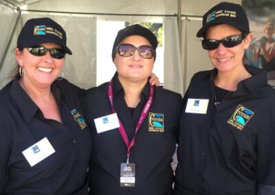 Three women from the MBC Foods team.